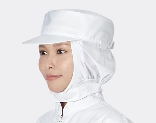 耳扣式頸寬條全布帽