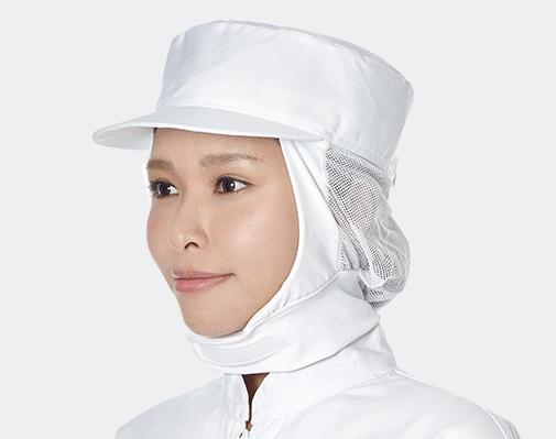頸寬條衛生網帽