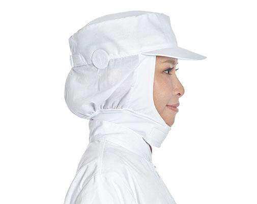 Ear Button Neck-wide Hat