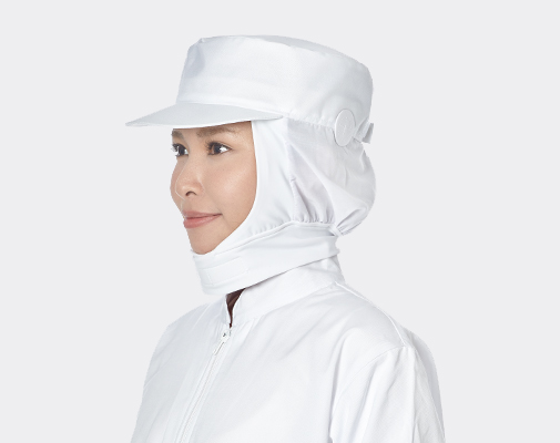 耳扣式頸寬條衛生網帽