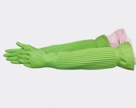 伸縮超長天然乳膠手套