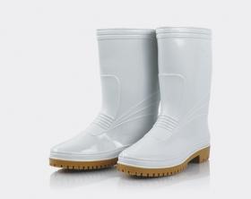 女用全長雙色雨鞋